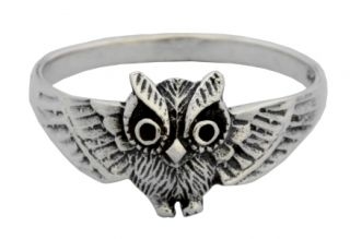 Ring Eule, Silber 925 20 / 62