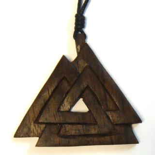 Amulett Anhänger Wotans Knoten, Holz