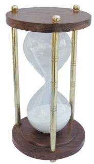 Ritual Sanduhr Stundenglas Holz/Messing, 60 min.