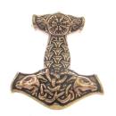 Amulett Anhänger Thors Hammer mit Kompass, Bronze