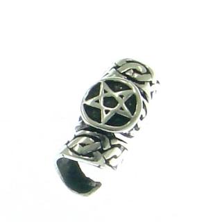 Bartperle und Haarperle Pentagramm, Silber 925