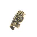 Bartperle und Haarperle Pentagramm, Bronze