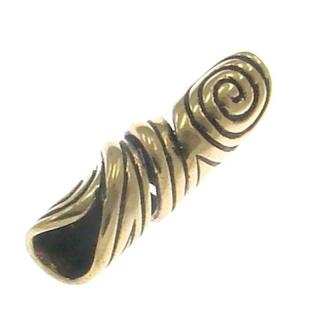 Bartperle und Haarperle Doppelspirale groß, Bronze