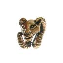 Bartperle und Haarperle, Anhänger Widderkopf, Bronze