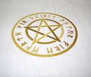 Hexen Badetuch Saunatuch Strandtuch Handtuch Pentagramm...