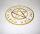 Set Hexen Badetuch und Handtuch Pentagramm gold gestickt
