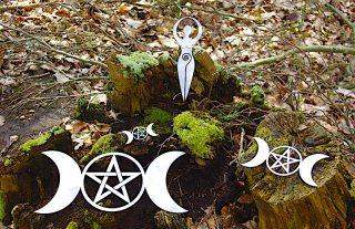 Metall Gartenstecker Applikation, Triple Moon mittel