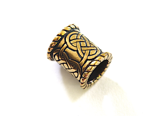 Bartperle und Lockenperle Keltische Knoten 3, Bronze