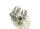 Bartperle und Haarperle 69 groß, Silber 925