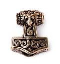 Bartperle und Anhänger Mjölnir, Thors Hammer,...