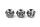 Bartperle und Haarperle Fleur Cross mit Totenkopf, Silber 925