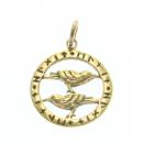 Anhänger Raben im Runenkreis, Bronze