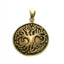 Amulett Lebensbaum, Weltenesche, Iggdrasil, Bronze