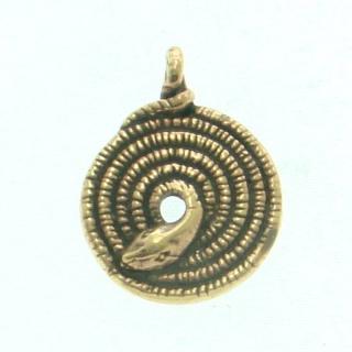 Anhänger Schlange Spirale, Bronze