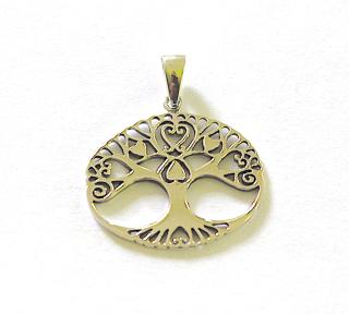 Amulett Anhänger Lebensbaum, Baum des Lebens, Silber 925