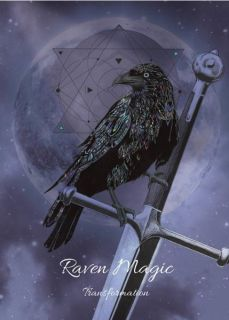 Karin Roberts Grußkarte RAVEN MAGIC