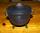 Hexenkessel Gußeisen Triquetta, mit Dreifuß
