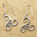 Ohrhänger Triskele verziert, 1 Paar, Silber 925