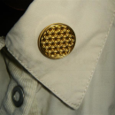 Blume des Lebens Magnet Pin, Gold
