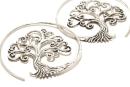 Ohrhänger Großer Lebensbaum, 1 Paar, Silber 925