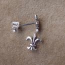 Ohrstecker Fleur de Lys Lilie, Silber 925, 1 Paar