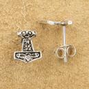 Ohrstecker Thors Hammer Mjölnir, Silber 925, 1 Paar