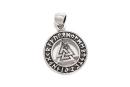 Anhänger Wotans Knoten mit Runen, Silber 925