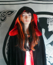 Ritual Gewand Robe schwarz-rot