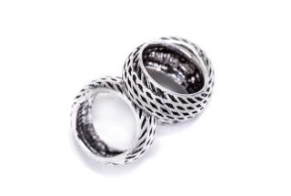 Bartperle und Haarperle Ring, Silber 925
