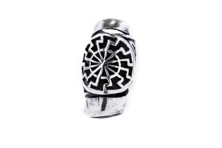 Bartperle und Haarperle Sonnenrad Sonnenkreis, Silber 925