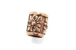 Bartperle und Haarperle groß Fleur Cross, Bronze