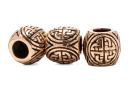 Bartperle und Haarperle Wikingerknoten, Bronze