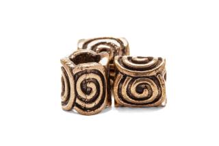 Bartperle und Haarperle Spiral, Bronze