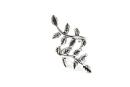 Ohrklemme Bartperle Blätter des Feenbaumes, Silber 925