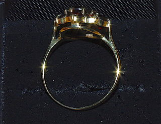 Granat Ring, Gold 333, Gr.59