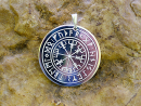 Runenamulett Anhänger Vegvisir Wikingerkompass,...