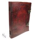 Riesiges Buch der Schatten m. Pentagramm, Ledereinband