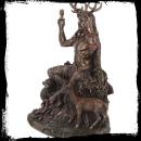 Altarfigur Cernunnos mit Tieren, sehr edel