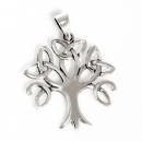Amulett Anhänger Lebensbaum freistehend, Silber 925