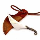 Halsmesser der Wikinger, Neck Knife, geschmiedet