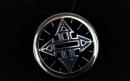 Nullpunkt Amulett Atlantisrad, Silber 925