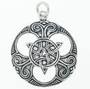 Amulett Anhänger Keltische Triade groß, Silber...