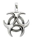 Amulett Anhänger Trinity Moon Mond, Silber 925