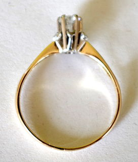 Solitär Brillantring, 0,25ct Gold 585, Gr.60,5