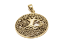 Anhänger Lebensbaum Sonne und Mond, Bronze