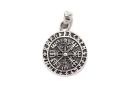 Anhänger Amulett Kleiner Vegvisir, Silber 925