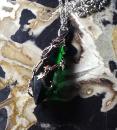 Amulett Anhänger Hedera Helix Anne Stokes, versilbert
