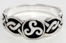 Ring Triskele, Silber 925