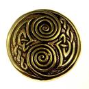 Anhänger Amulett Große keltische Spirale, Bronze