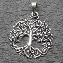 Amulett Anhänger Lebensbaum, Baum des Lebens, Silber...